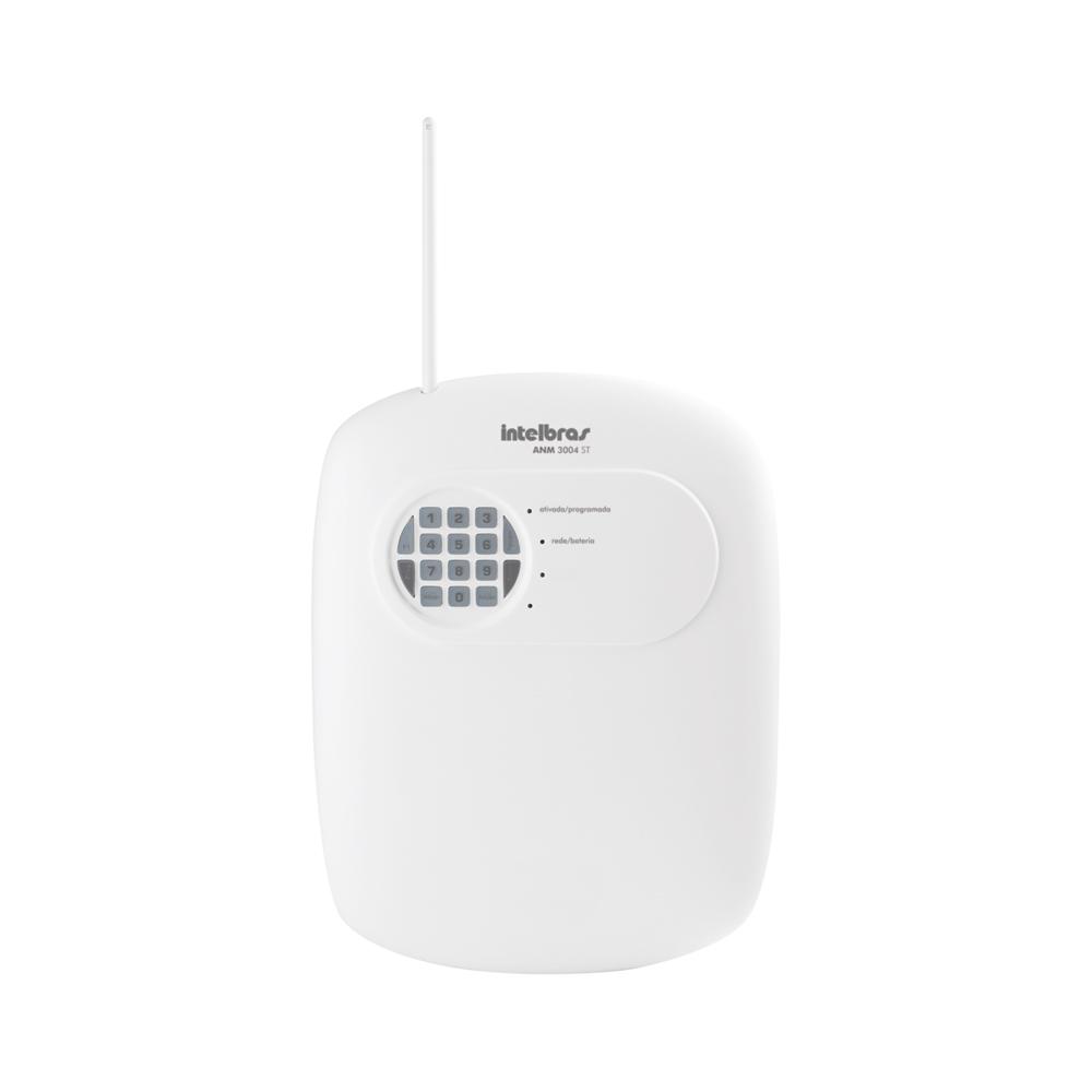Central de Alarme Sem Fio Intelbras ANM 3004 ST, Alarme não monitorado com 4 zonas, Via linha telefônica, 4 Partições independente, Controle Remoto, Discadora