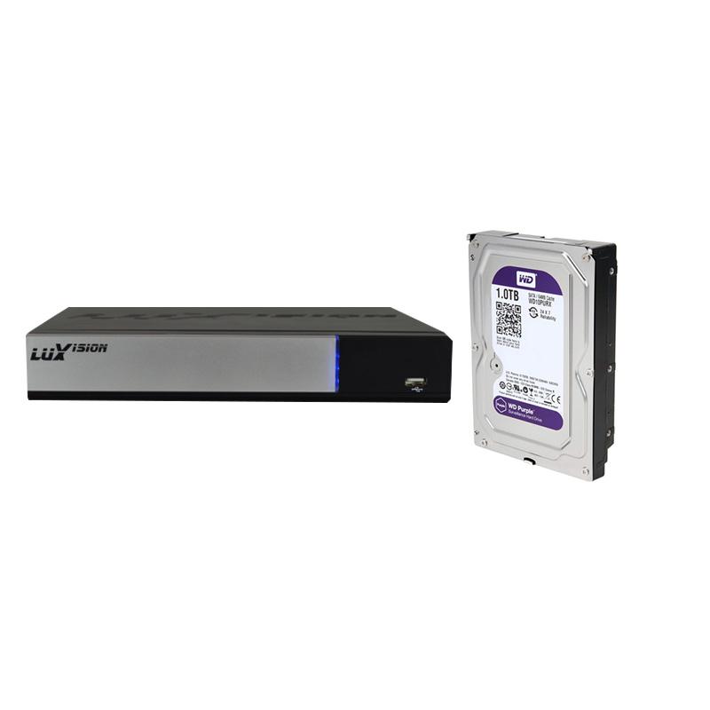 DVR Stand Alone Híbrido AHD M Luxvision 4 Canais + HD 1TB WD Purple de CFTV