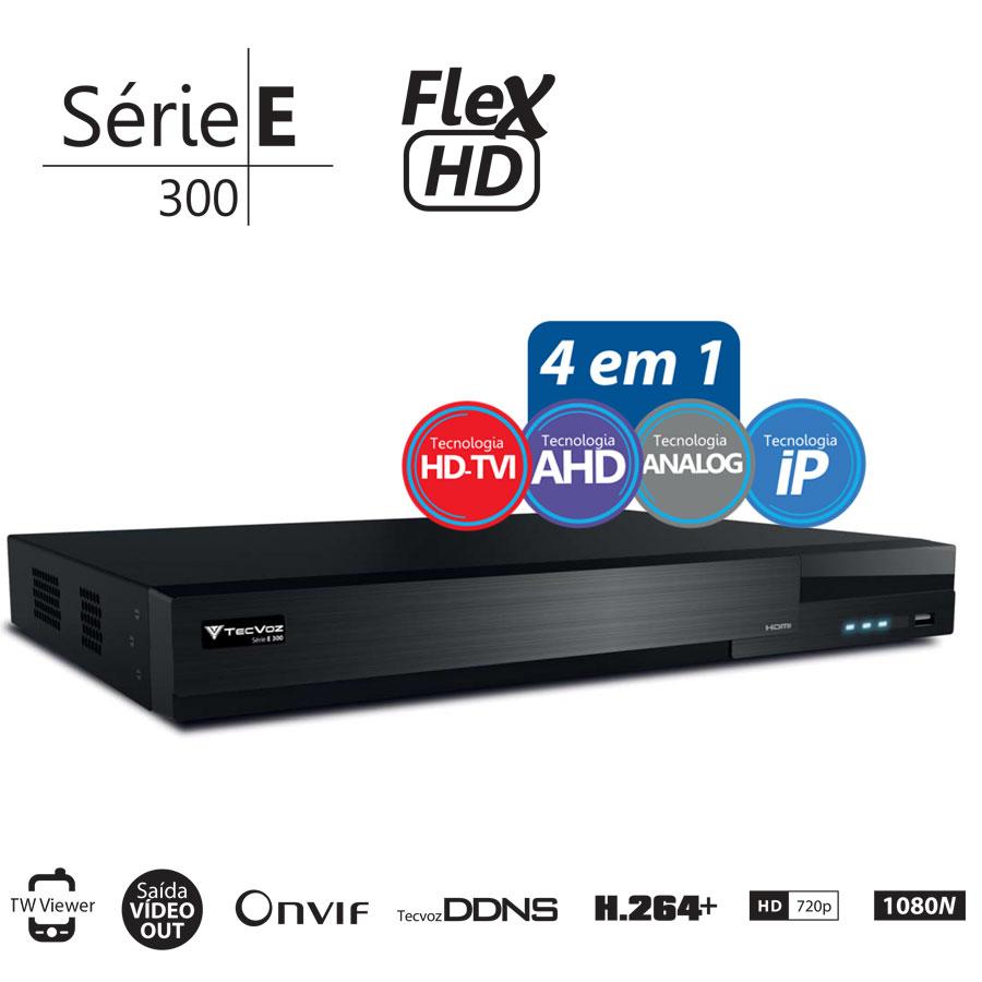 DVR Stand Alone  Tecvoz TW E316 16 Ch 1080N Flex 4 em 1 - HD-TVI / AHD / CVBS / IP