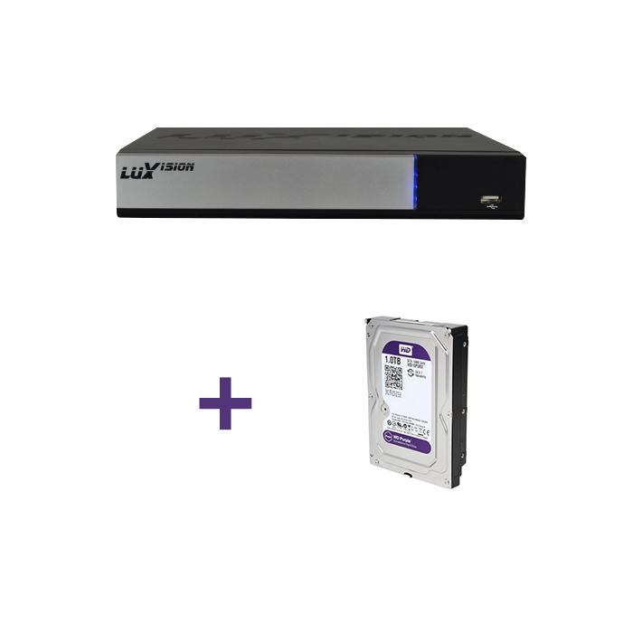 DVR Stand Alone Tríbrido AHD M Luxvision 16 Canais Smart +  HD 1TB WD Purple de CFTV