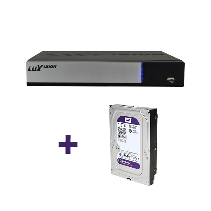 DVR Stand Alone Tríbrido AHD M Luxvision 8 Canais Smart + HD 2TB WD Purple para CFTV