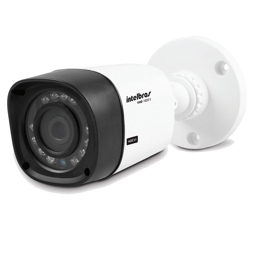 Kit CFTV 4 Câmeras Infra 720p Intelbras VHD 1120B G3 + DVR Intelbras Multi HD + HD WD Purple 1TB + Acessórios