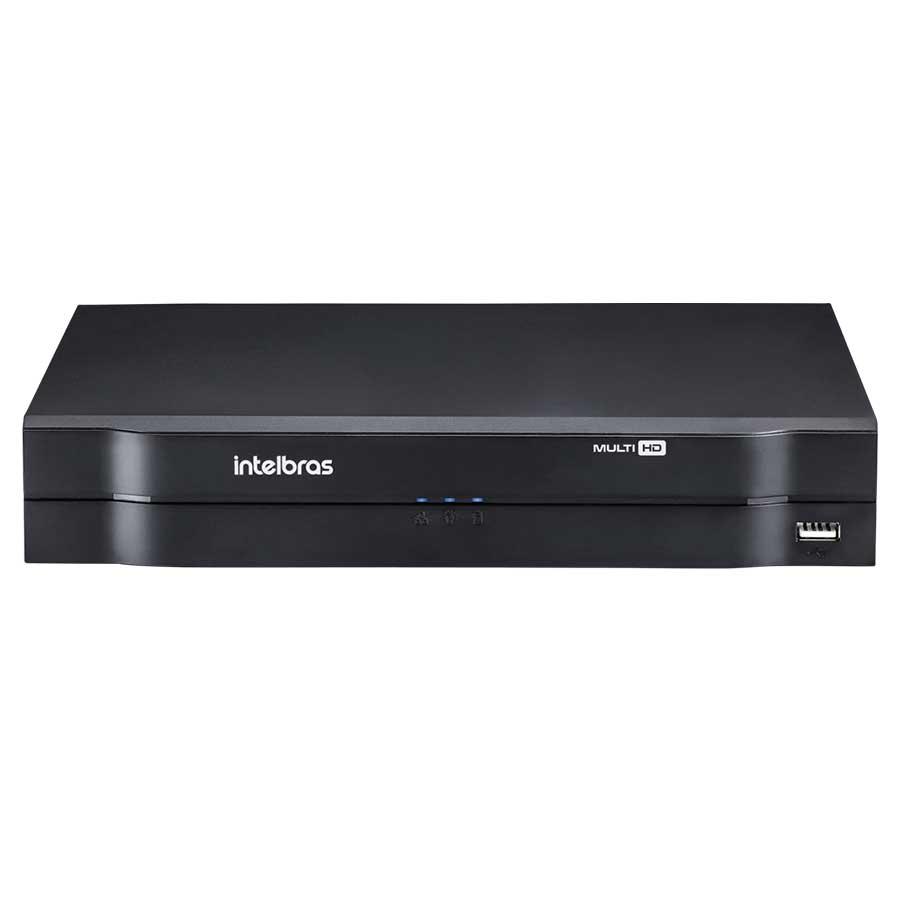 Kit CFTV 3 Câmeras Infra 720p Intelbras VM 3120 IR G3 + DVR Intelbras Multi HD + Acessórios