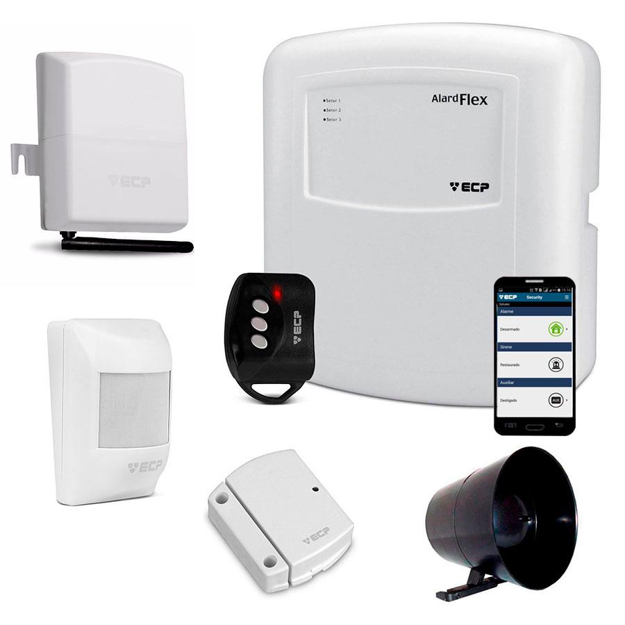 Kit de Alarme Simples Sem Fio com Discadora GSM Connect Cell GSM