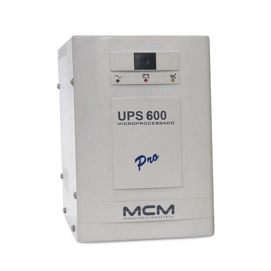 Nobreak MCM UPS 600 VA PRO BI-VOLT +Ent. Bat. Aux