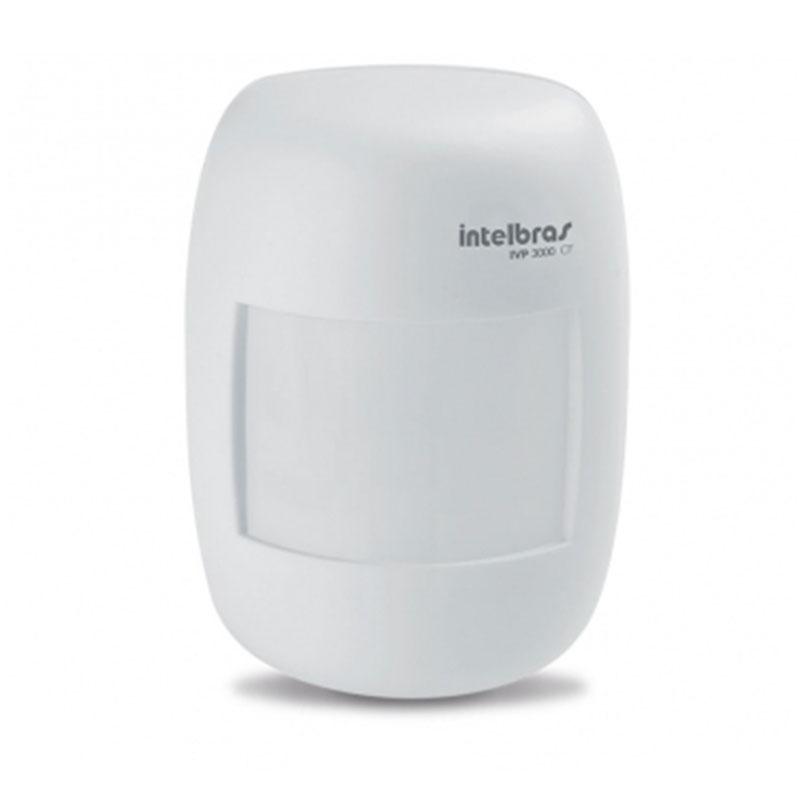 Sensor Infravermelho Passivo Intelbras IVP 3000 CF, Detecção microprocessada, 2 níveis de sensibilidade, Relé em estado sólido, Alcance de 12m, Cobertura com ângulo de 115°