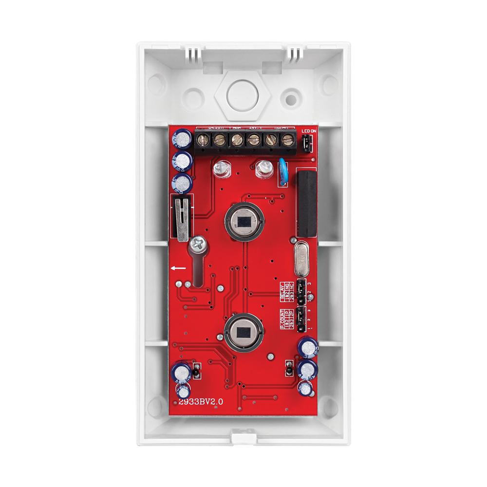 Sensor Infravermelho PET Duplo PIR Com Fio Intelbras  IVP 3000 PET, Tamper, PET 35 kg, Microcontrolado, Relé em estado sólido, Lentes de Filtro Ótico Especiais