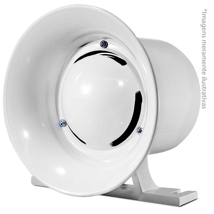 Sirene Branca Compacta de Alta Potência, 120Db, 12v