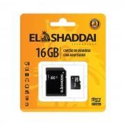 Cart�o de Mem�ria Micro SD C/ Adaptador 16Gb EL SHADDAI