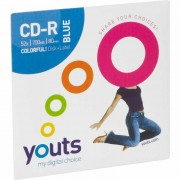 CD-R Youts Colorful 700Mb 80 Min Azul
