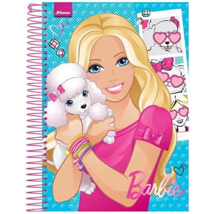Caderno Barbie Universitário 1x1 96 Fls. 33.0850-1 Foroni