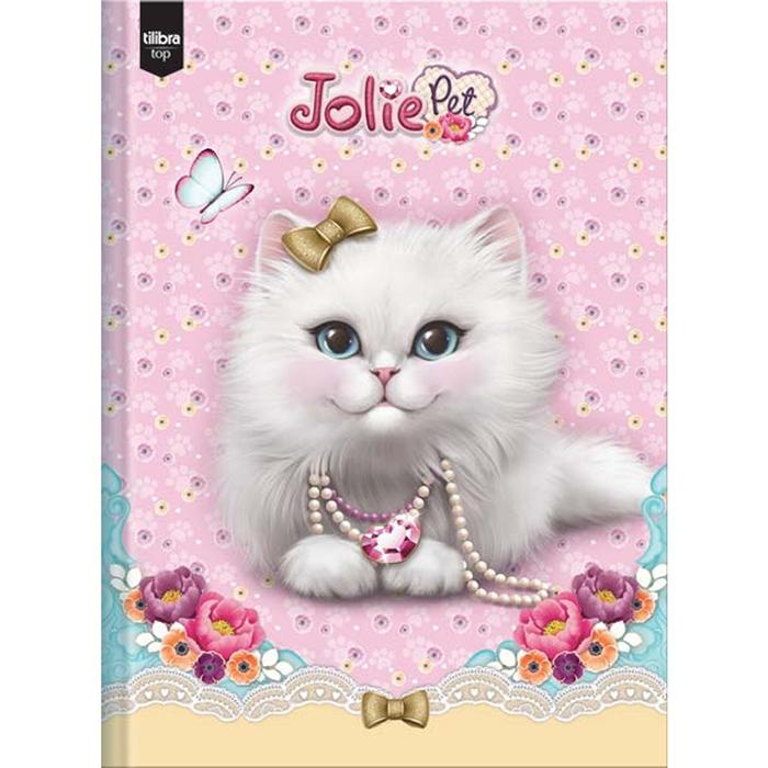 Caderno Brochura Capa Dura Costura Universitário Jolie Pet 1x1 96 Fls. 120090 Tilibra