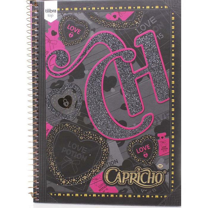 Caderno Capa Dura Universitário Capricho 10x1 200 Fls. 137707 Tilibra
