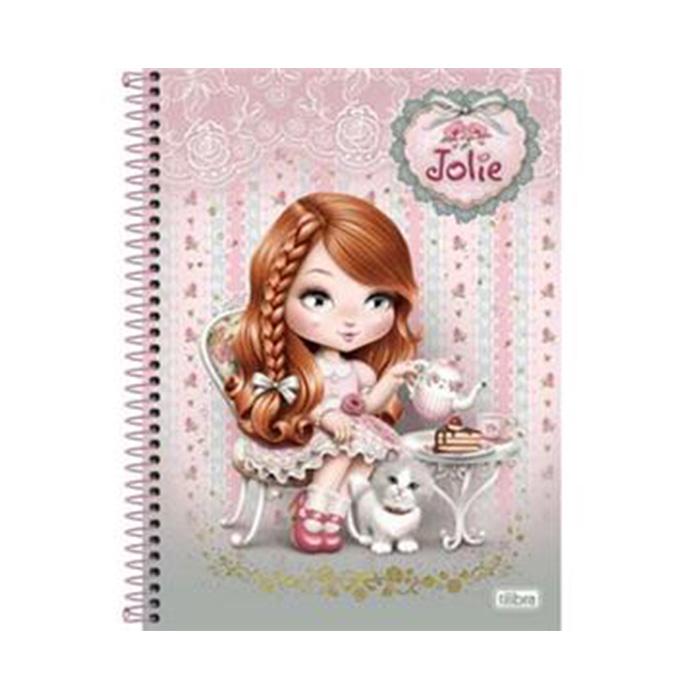 Caderno Capa Dura Universitário Jolie 10x1 200 Fls. 128309 Tilibra