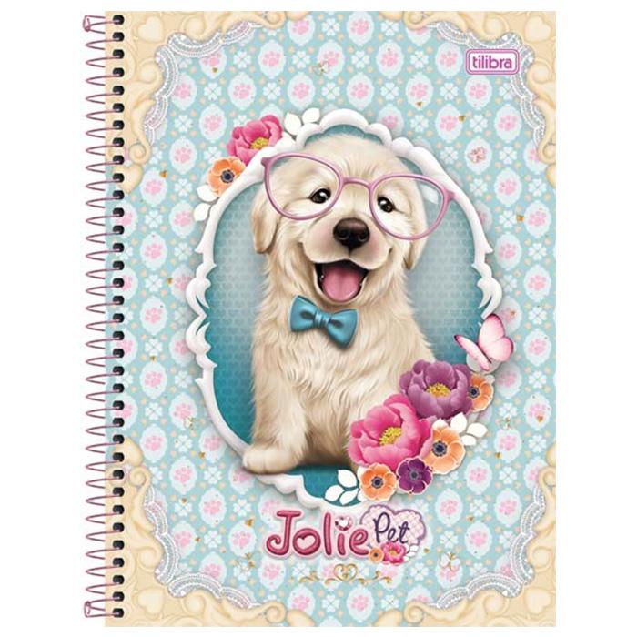Caderno Capa Dura Universitário Jolie Pet 10x1 200 Fls. 130915 Tilibra