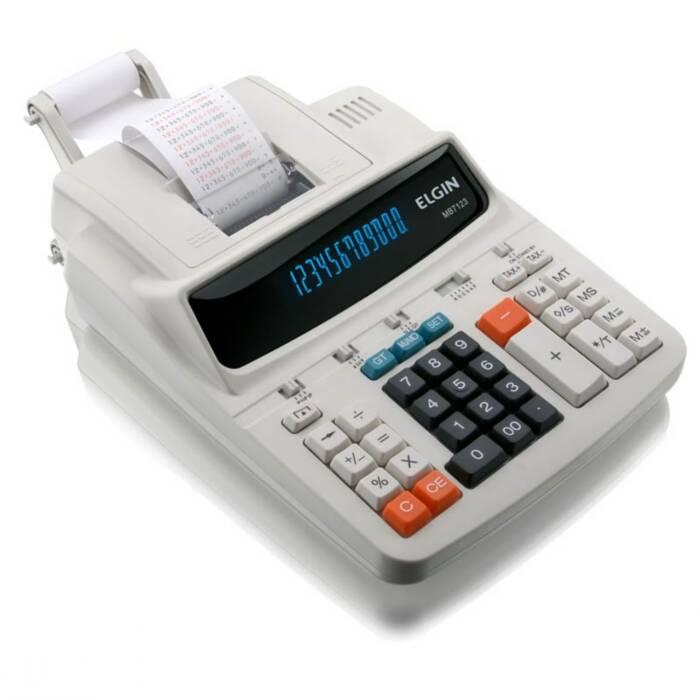 Calculadora de Mesa C/ Bobina 12 Dígitos MB7123 Elgin