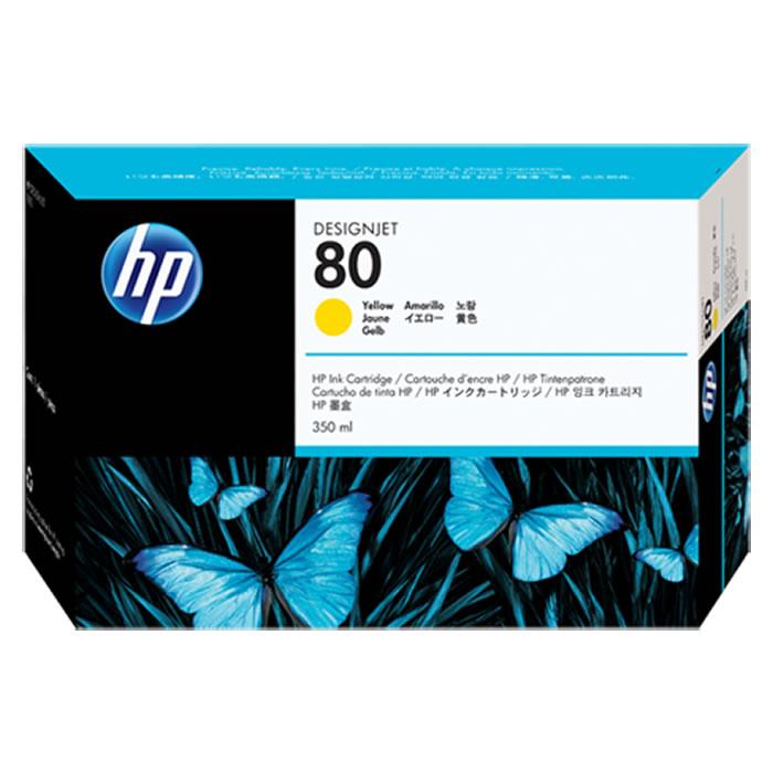 Cartucho de Plotter HP 80 C4848A Amarelo