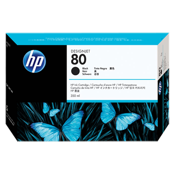 Cartucho de Plotter HP 80 C4871A Preto