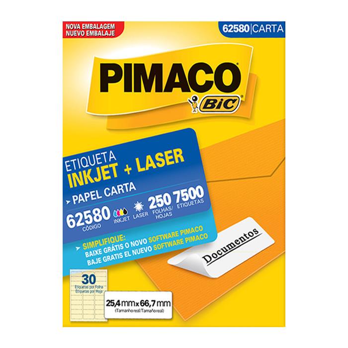 Etiqueta Pimaco InkJet + Laser - 62580