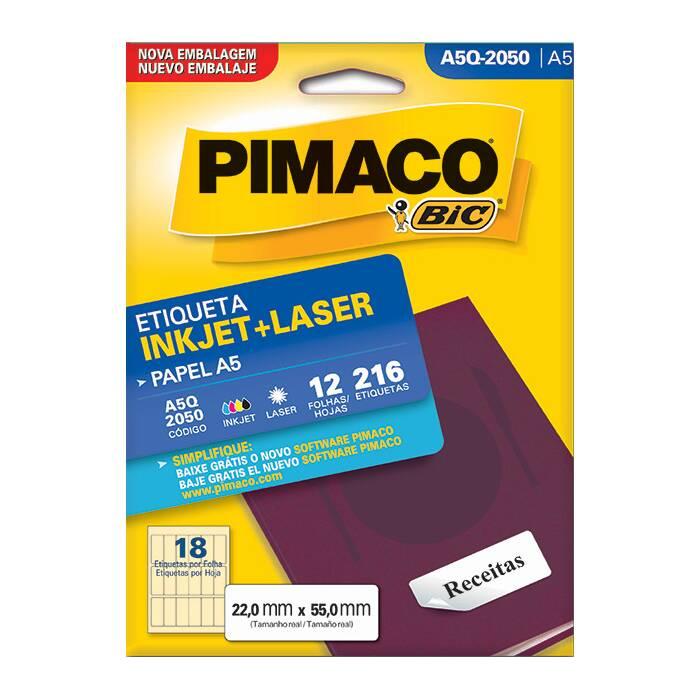 Etiqueta Pimaco InkJet + Laser - A5Q-2050