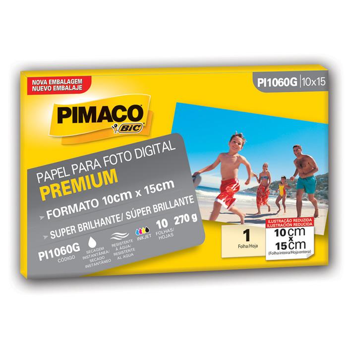 Papel Fotográfico 10x15cm 270g Super Glossy PI1060G Pimaco