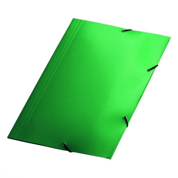 Pasta aba el stico verde plastif cart o triplex for Papel pintado plastificado
