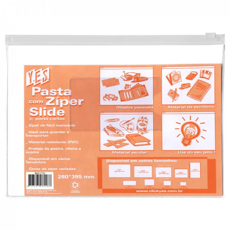 Pasta C/ Ziper Slide Branco 280MM X 395MM DZ31 Yes