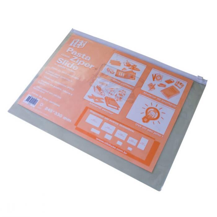 Pasta C/ Ziper Slide Branco 100x240mm. DZ41 Yes