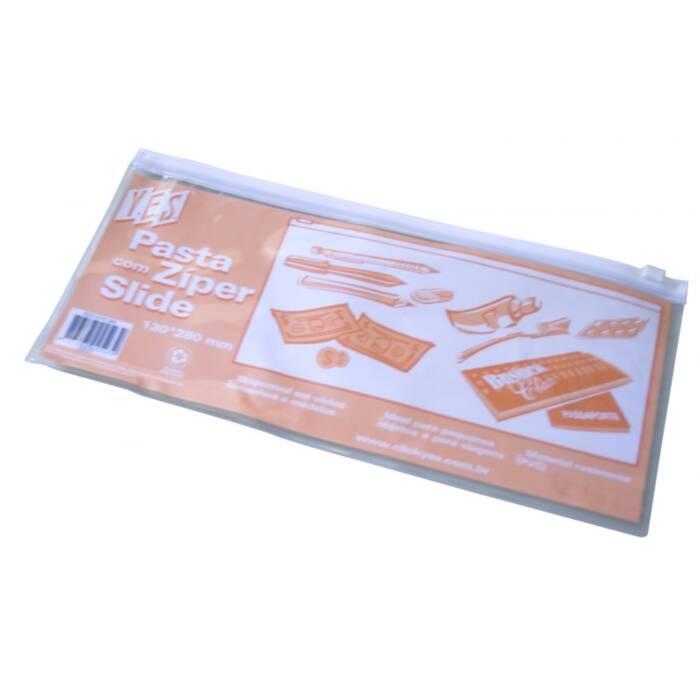 Pasta C/ Ziper Slide Branco 280x130mm. DZ35 Yes