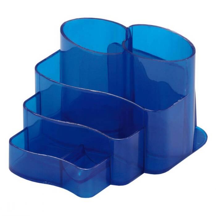 Porta Lápis/Clips/Papel Conjunto Triplo Injetado Azul 3005C Dello
