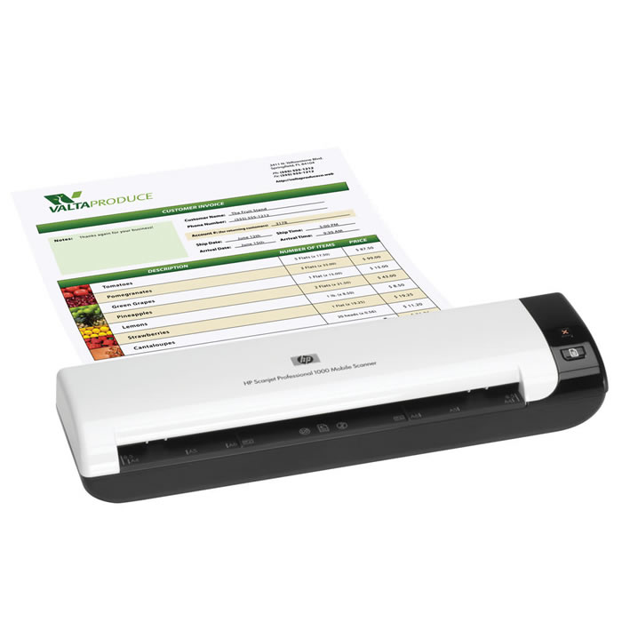 Scanner Professional Portátil 1000 L2722A HP