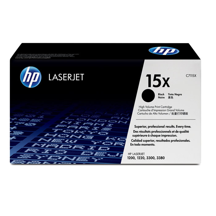 Toner HP 15X C7115X Preto