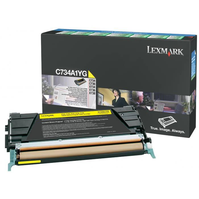 Toner Lexmark C734A1YG Amarelo