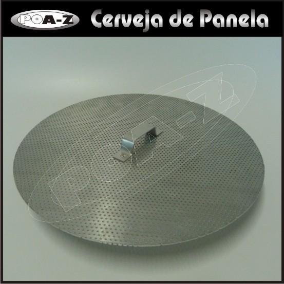 Fundo Falso em Alumínio para Caldeirão - 34 cm  - CERVEJA DE PANELA