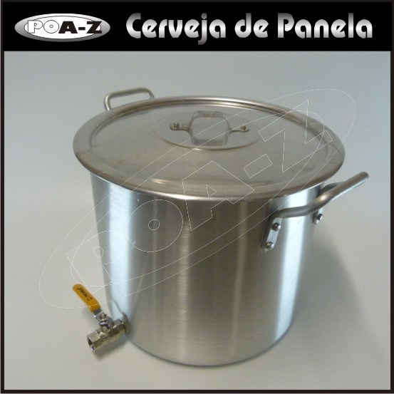 Caldeirão 27 litros com Válvula  - CERVEJA DE PANELA