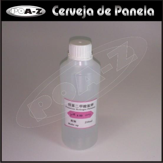 Solução para Calibração - Padrão pH: 4,00 - 250 ml  - CERVEJA DE PANELA