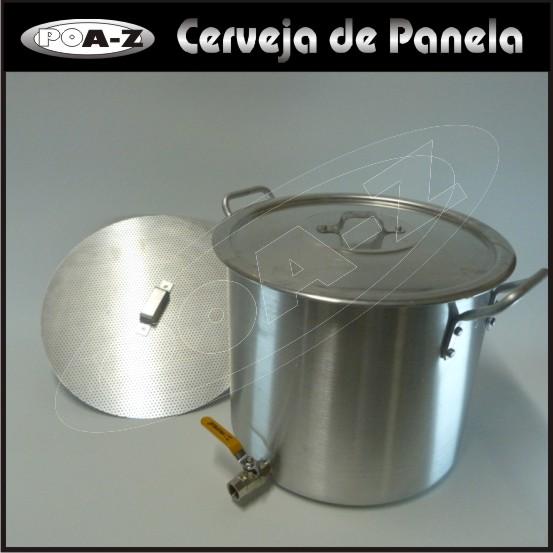 Caldeirão 32 litros com Válvula e Fundo Falso  - CERVEJA DE PANELA