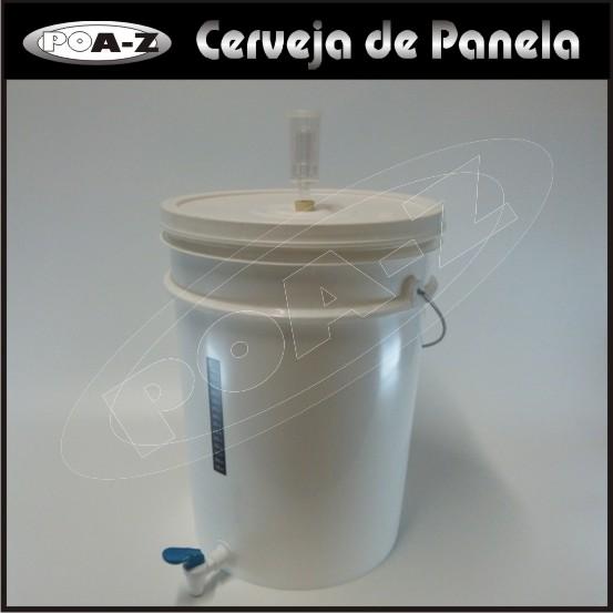 Balde Fermentador Completo - 22 litros - Kit 2 unidades  - CERVEJA DE PANELA