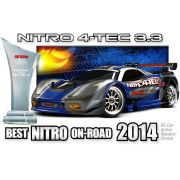 Automodelo Nitro 4-Tec RTR c/ r�dio 2.4 e motor TRX 3.3