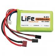 Bateria LiFeSource LiFe 6.6V 3200mAh 10C Rx