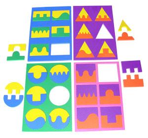Quebra Cabeça Geométrico Com 4 Placas