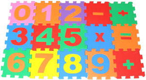 Tapete em Eva Pequeno - Números e Sinais 15 peças