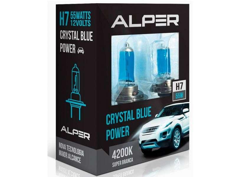 Lâmpadas Super Branca Alper H7 4200k 55w Par