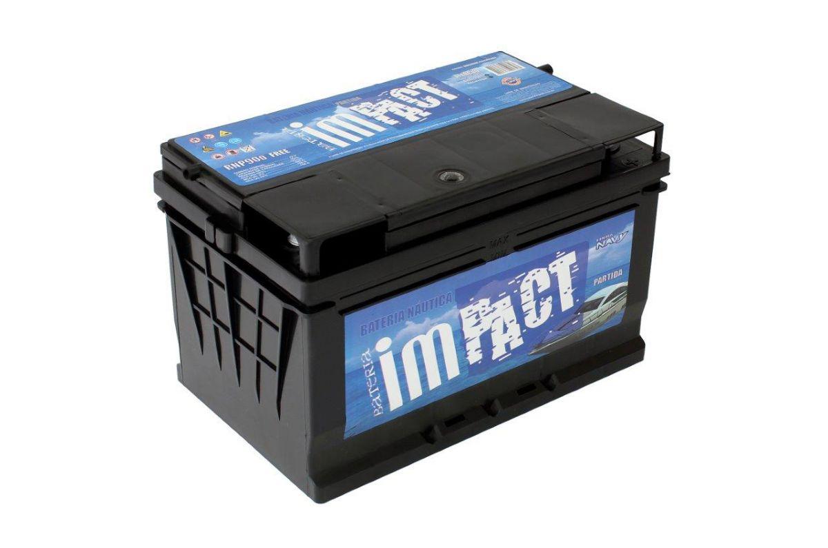 Bateria Som/Barcos Automotivo  Impact Náutica Navy 90ah
