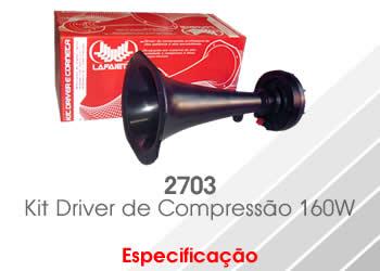 Driver Corneta Lafaiete 2703 160w 8 Ohms