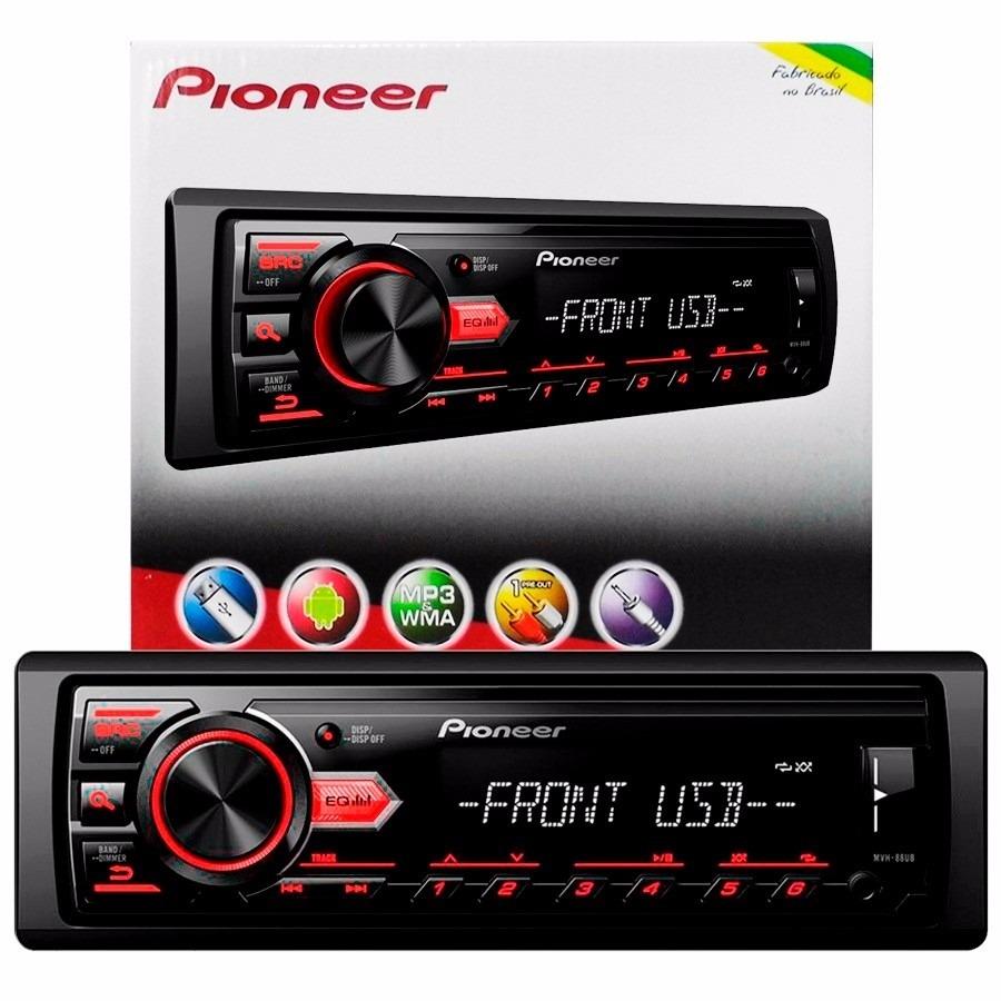 Som Automotivo Pioneer Media Receiver MVH-88UB MP3 AM/FM Entrada USB
