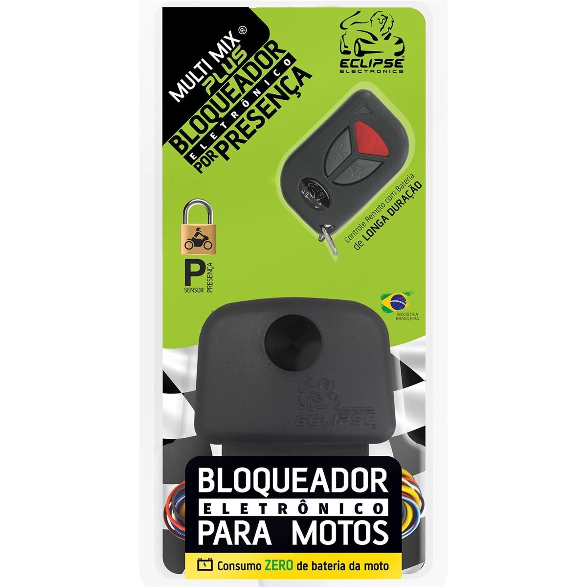 Alarme Bloqueador Moto Eclipse Anti Furto Presença