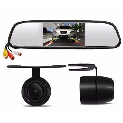 Espelho Retrovisor Monitor Tela Lcd + Câmera Ré