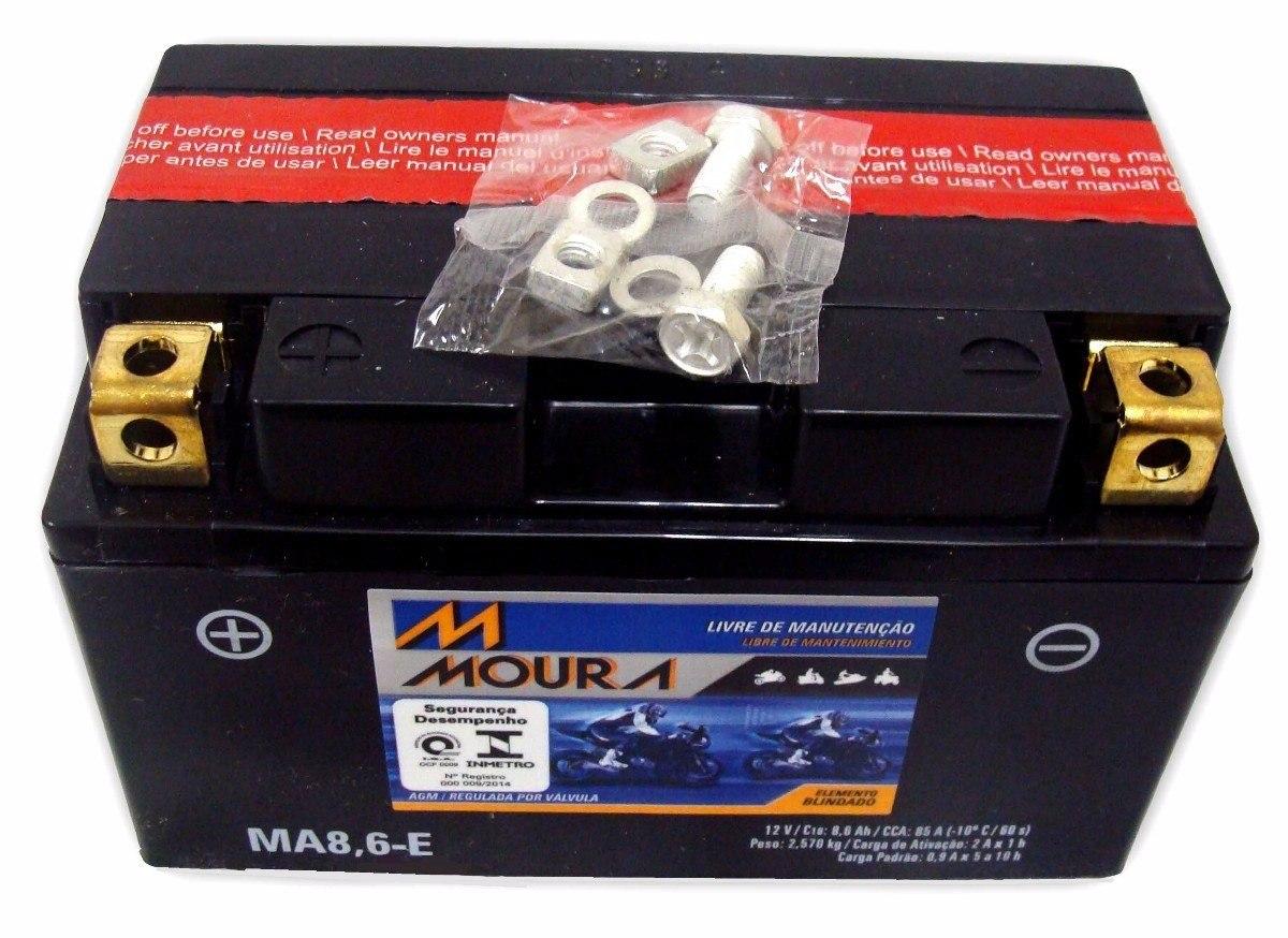 Bateria Moto  Moura Ma8,6-e Cbr600 1000 R1 Hornet Cb 1000