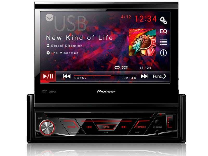 Dvd Player  Pioneer Avh3880Dvd  Retrátil